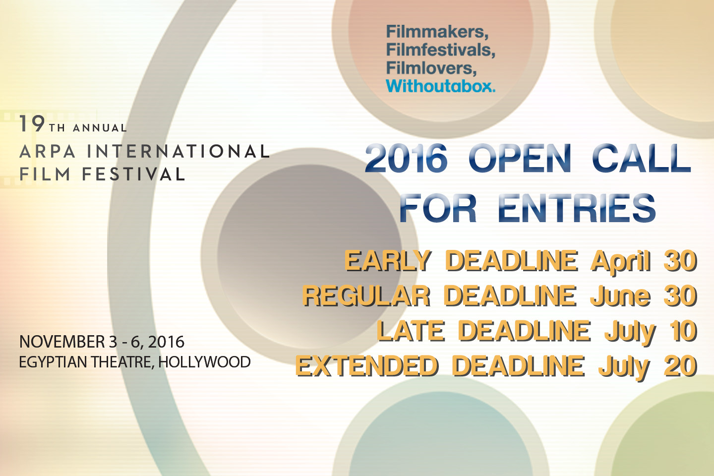 Open Call for Entries 2016